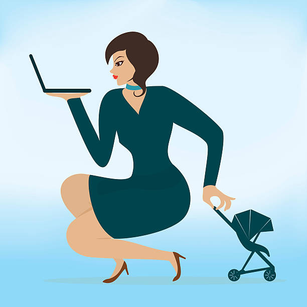 Royalty Free Working Mother Clip Art, Vector Images ...