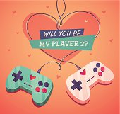Will you be my player two? Valentine's Day Card