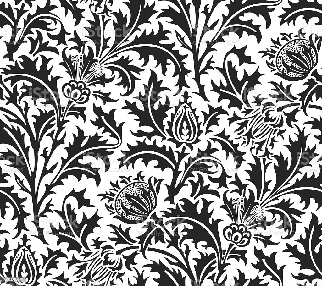 William Morris Thistle Weave Wallpaper Stock Illustration Download Image Now Istock