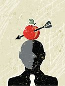 William Tell Businessman with an Apple and Arrow