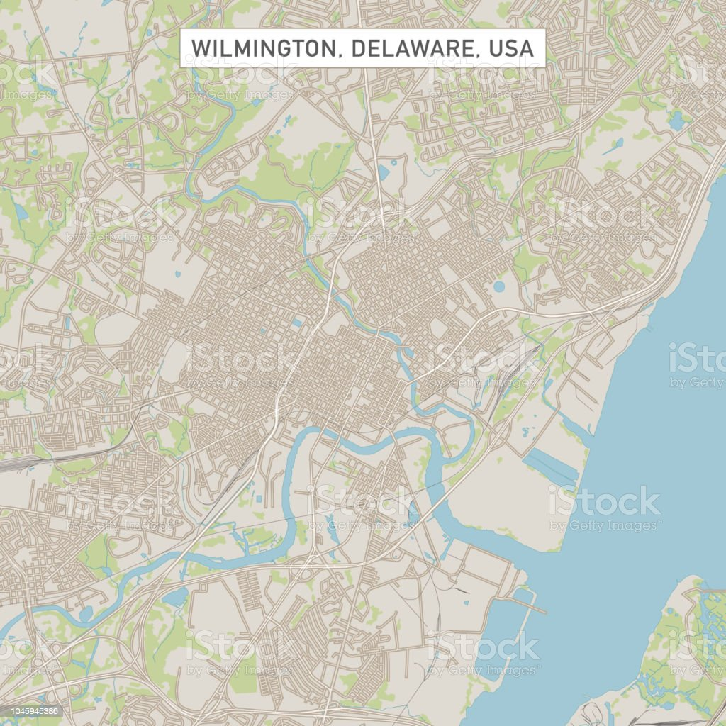 Wilmington Delaware Us City Street Map Stock Vector Art More