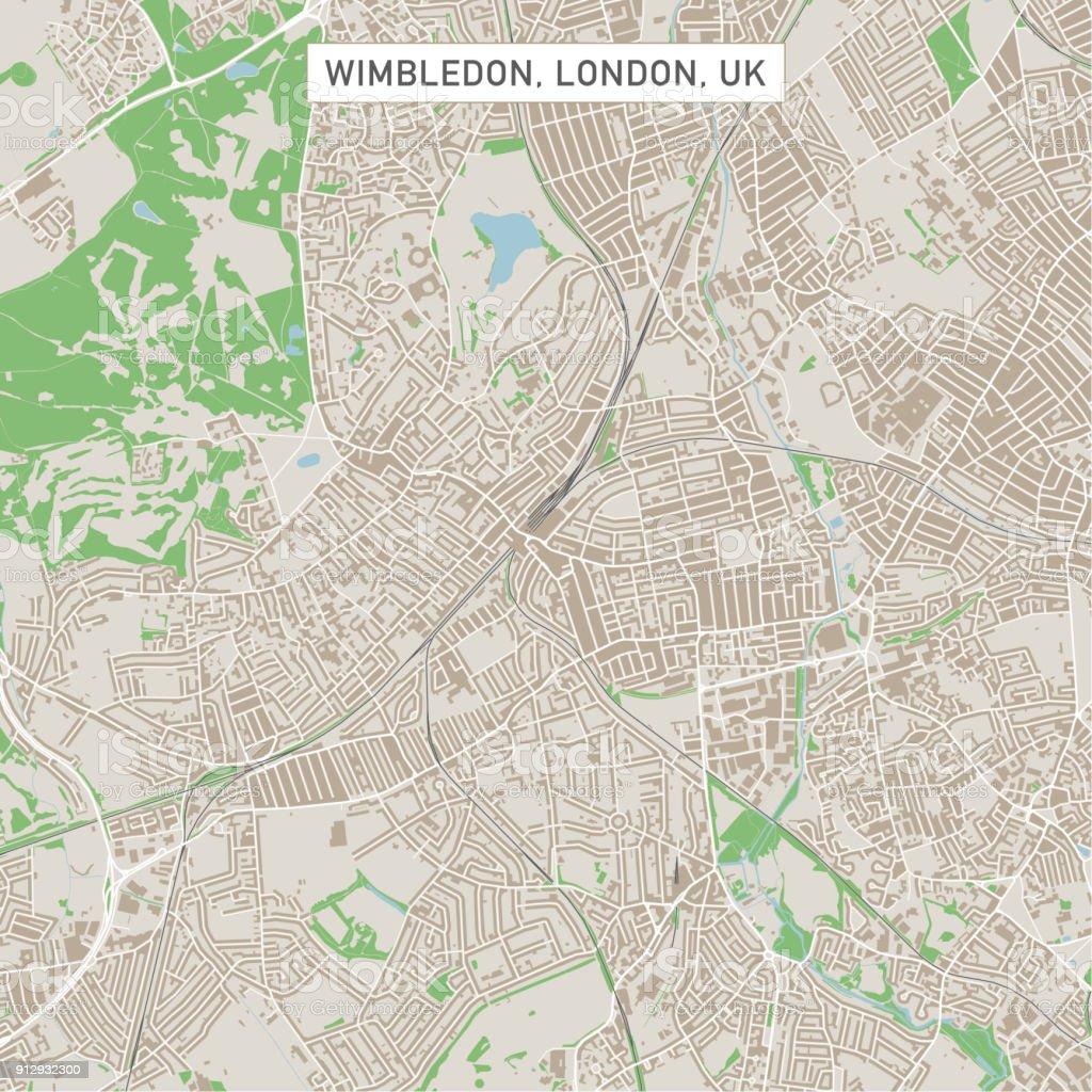 wimbledon london uk city street map royalty free wimbledon london uk city street map stock