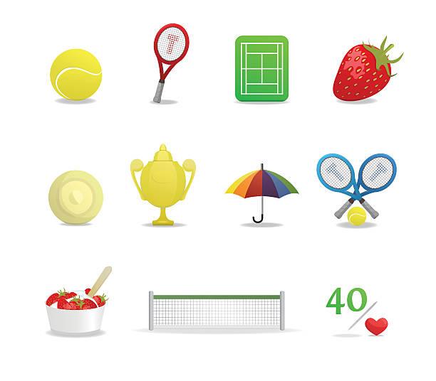 wimbledon tennis-icons - wimbledon stock-grafiken, -clipart, -cartoons und -symbole