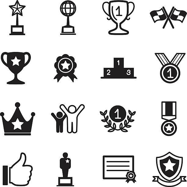 win and success icons - 競技運動 幅插畫檔、美工圖案、卡通及圖標