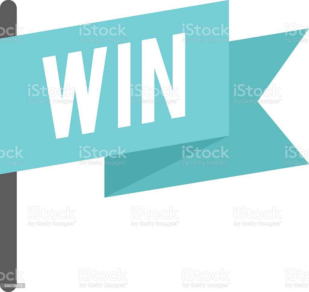 Win flag vector illustration vector art illustration