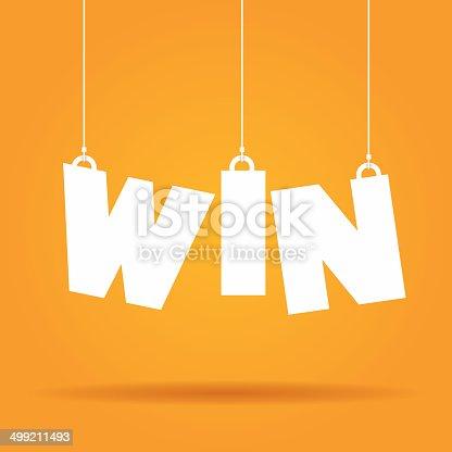 istock Win hanging label 499211493