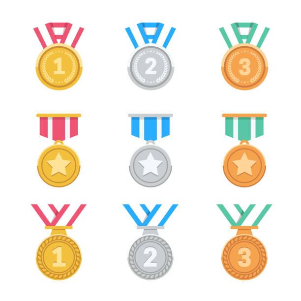 メダルのセットを獲得します。 - メダル点のイラスト素材/クリップアート素材/マンガ素材/アイコン素材