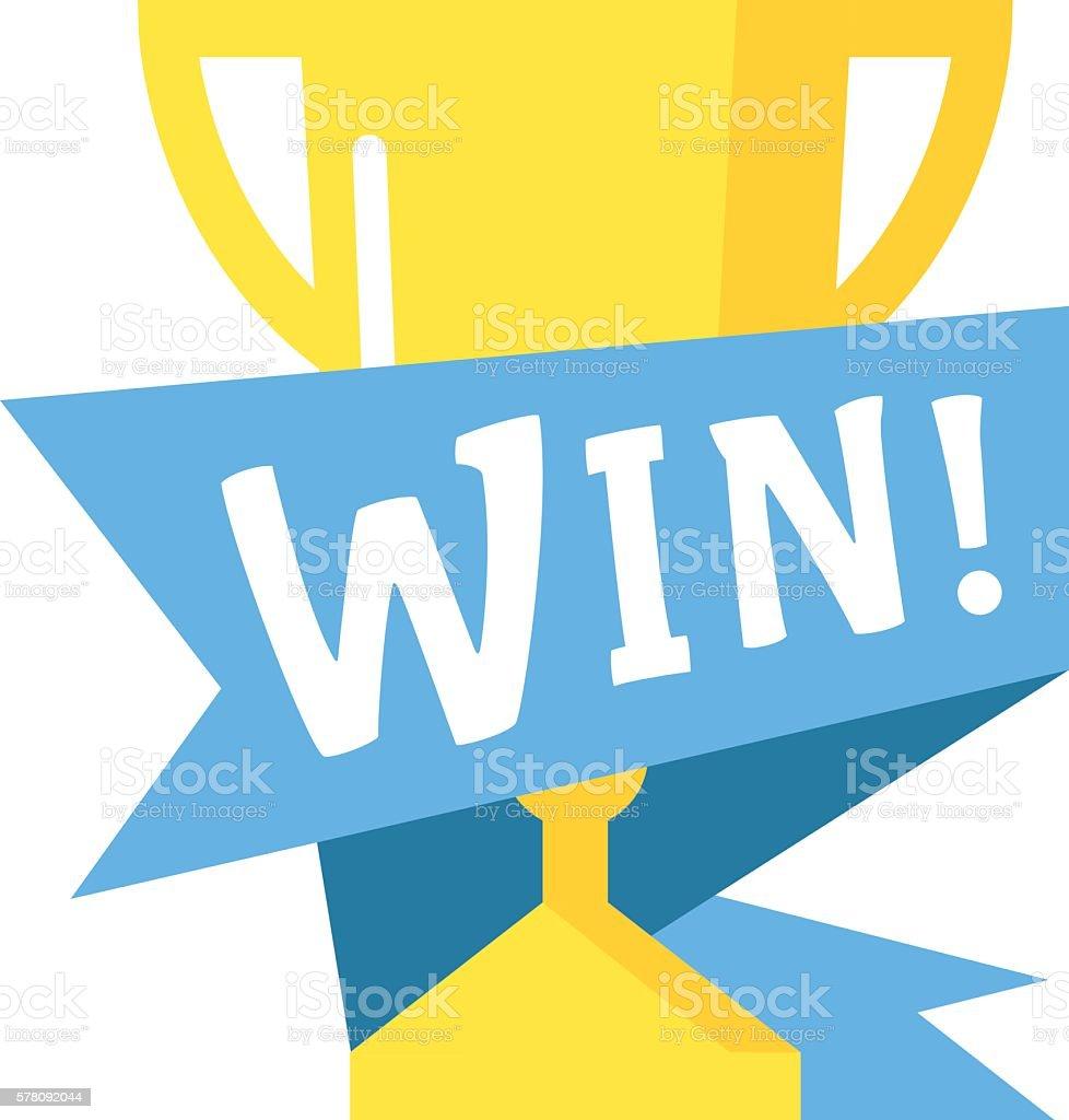 Win text vector illustration vector art illustration