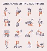 winch lifting icon