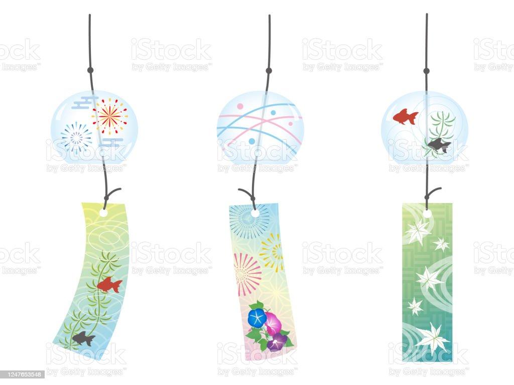 風鈴 アサガオのベクターアート素材や画像を多数ご用意 Istock
