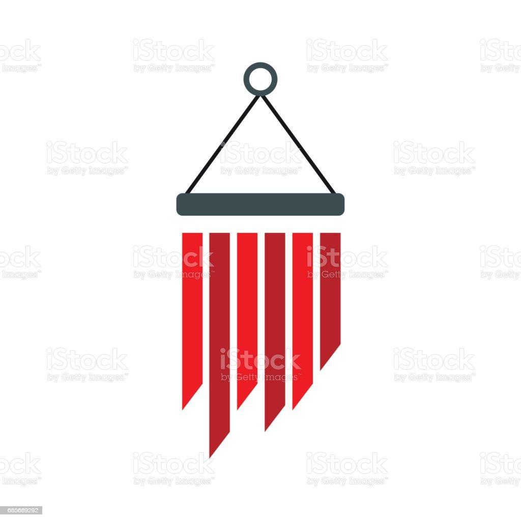 風鈴圖示,平面樣式 免版稅 風鈴圖示平面樣式 向量插圖及更多 一個物體 圖片