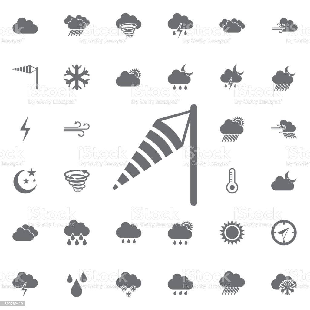 ícone do cone de vento. - ilustração de arte em vetor