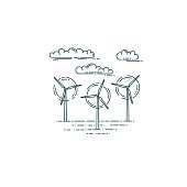 Wind generator turbines and clouds