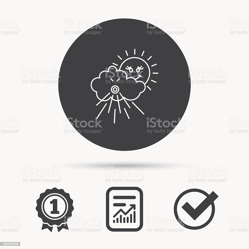 Wiatr icon. Burza chmury w słońcu i zaloguj się. wiatr icon burza chmury w słońcu i zaloguj się - stockowe grafiki wektorowe i więcej obrazów dmuchać royalty-free