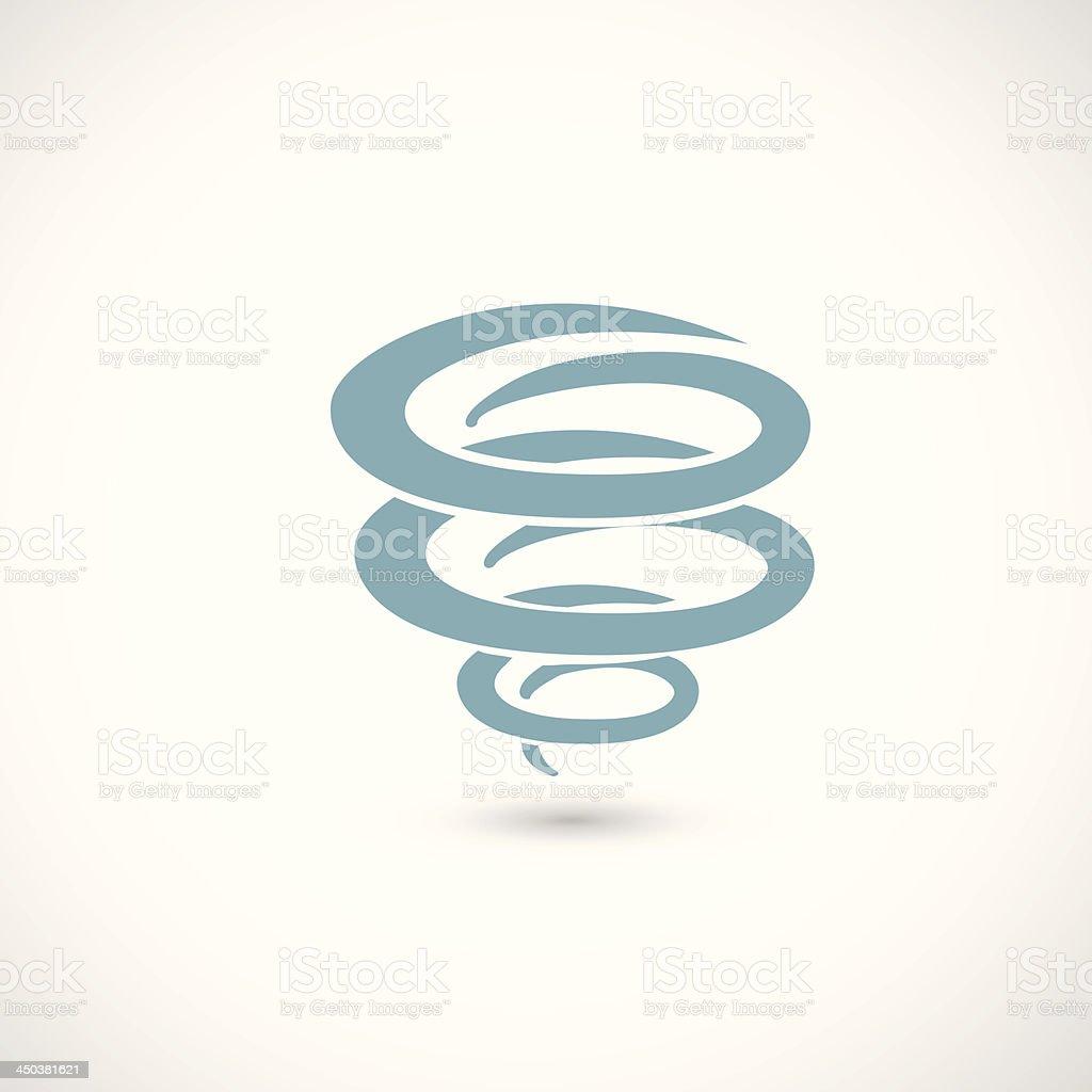 wind icon vector art illustration