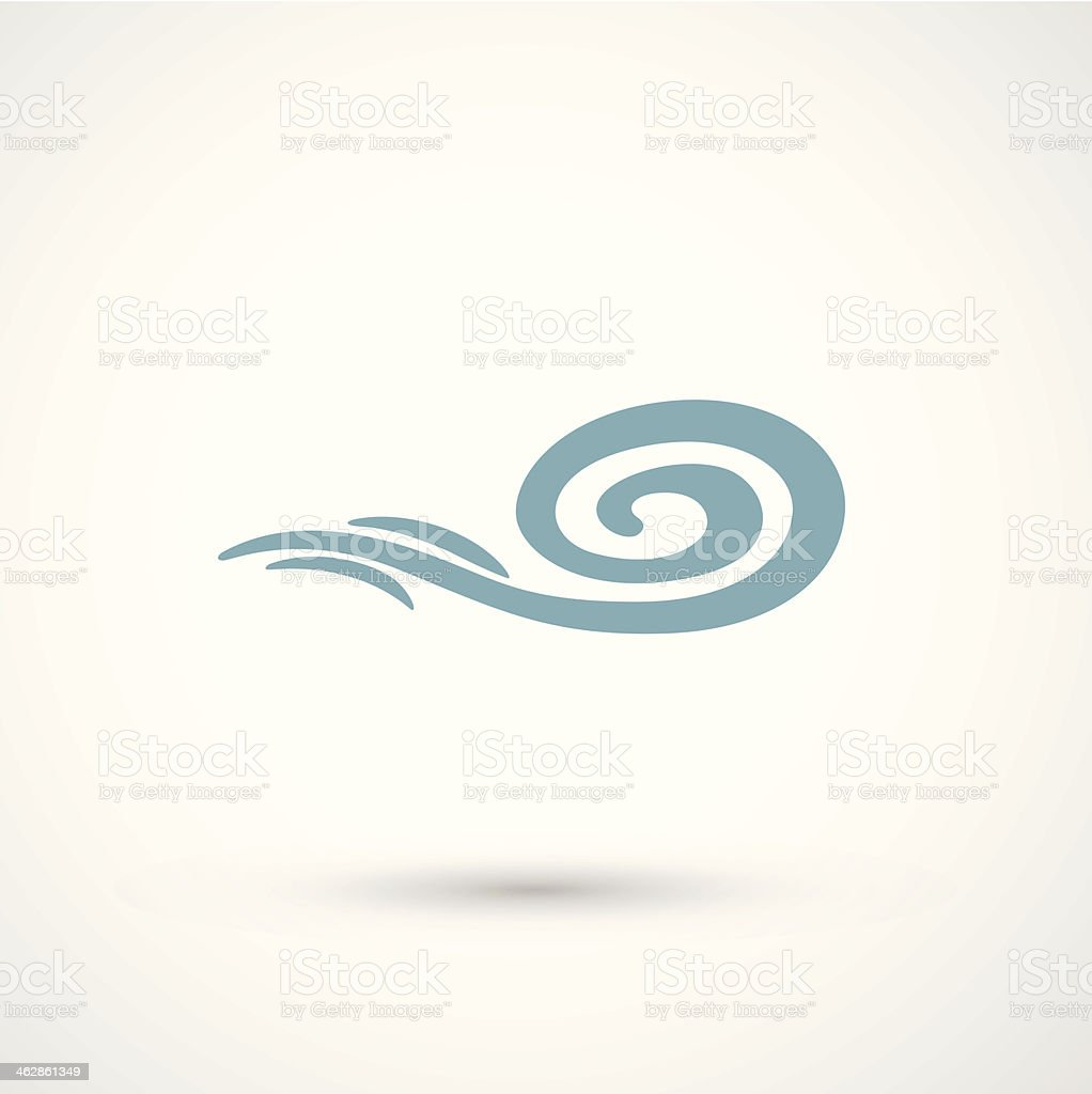 wind icon vector art illustration