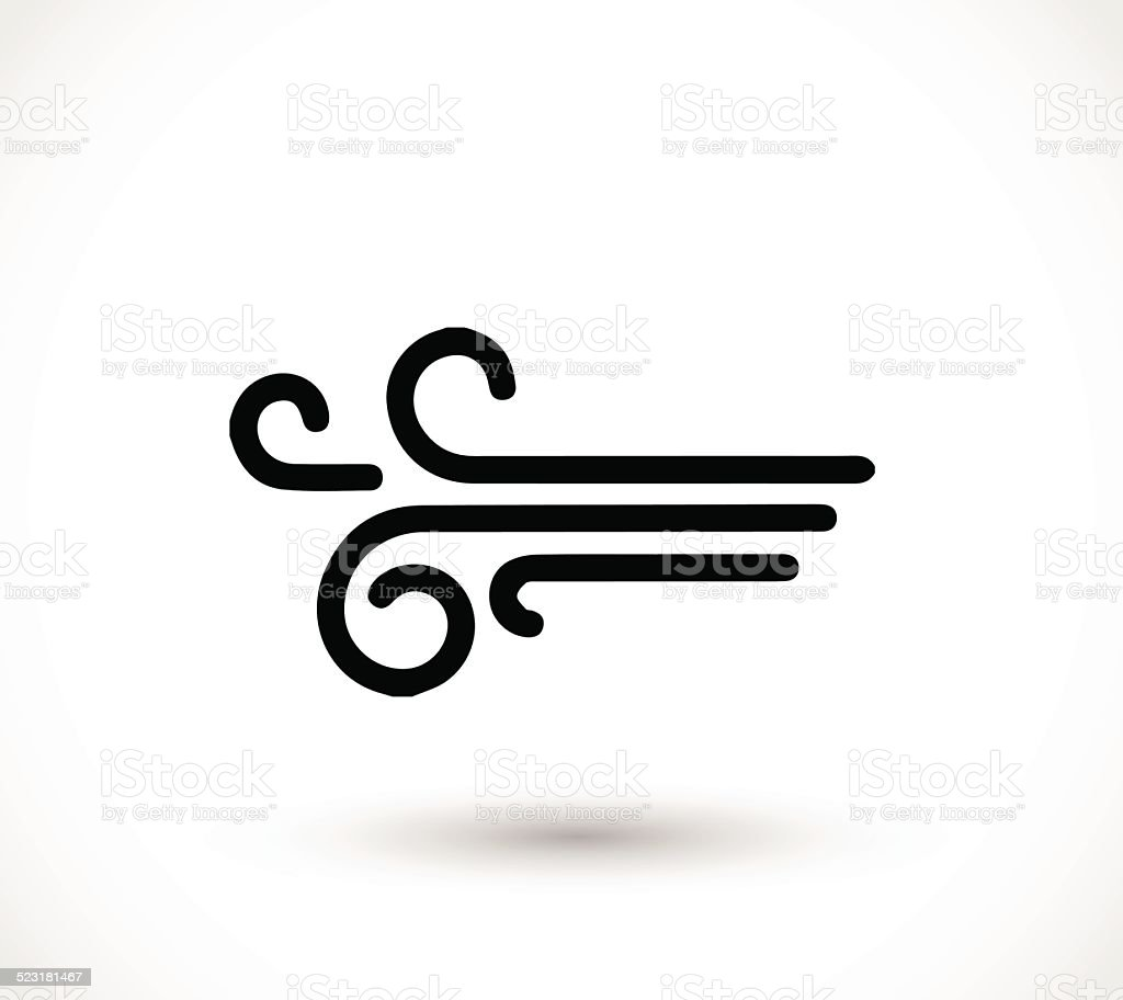 Wind icon vector vector art illustration