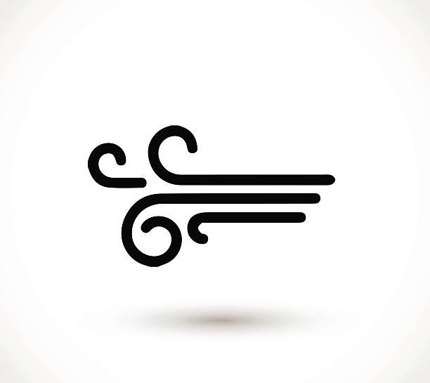 wind icon vector - rüzgar stock illustrations