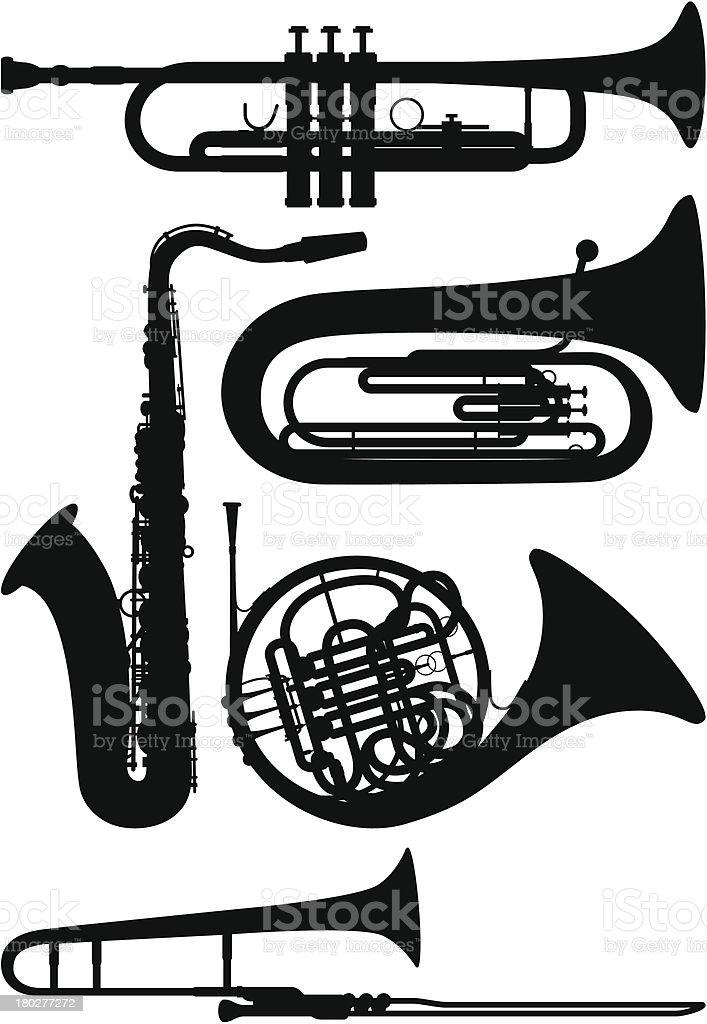 Wind Instruments vector art illustration