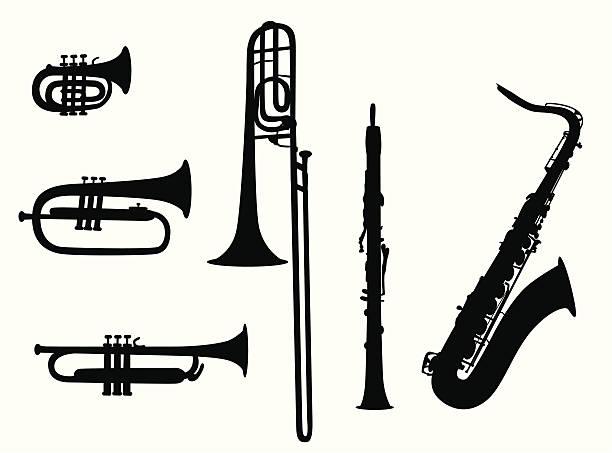 ilustrações de stock, clip art, desenhos animados e ícones de sopro - saxofone