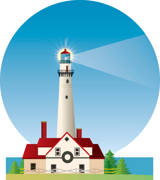 Royalty Free Lighthouse Michigan Clip Art, Vector Images ...