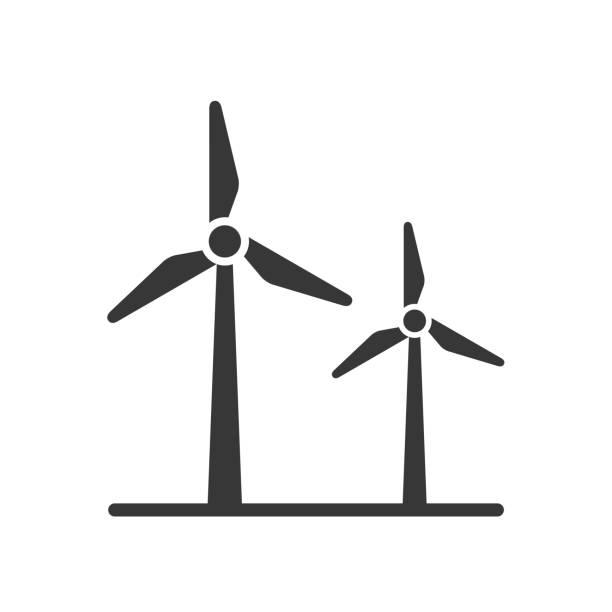 stockillustraties, clipart, cartoons en iconen met windenergie - windmolen