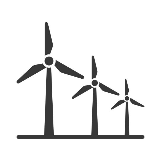 rüzgar enerjisi - rüzgar değirmeni stock illustrations