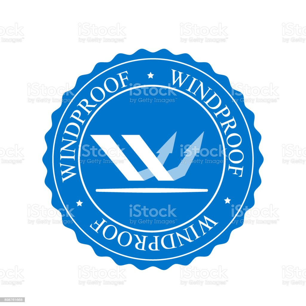 Wind resistant icon - vector illustration. Circle shape vector art illustration