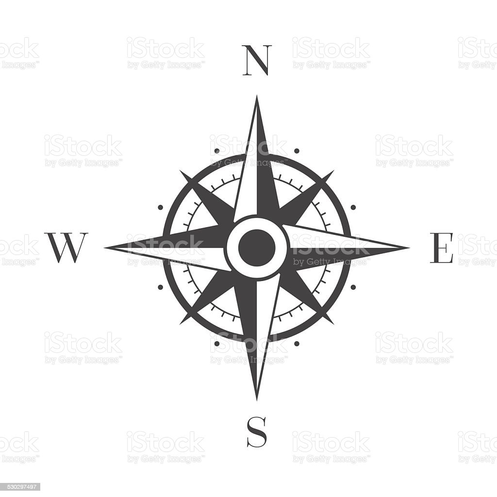Wind Rose on White Background vector art illustration