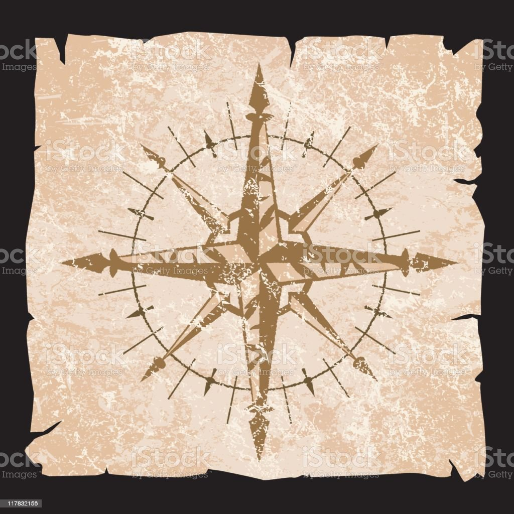 wind rose vector art illustration