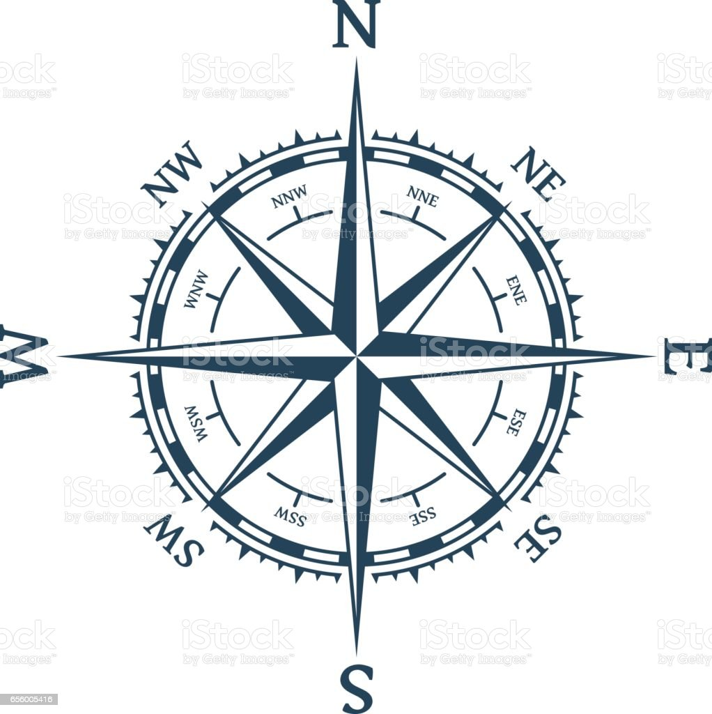 Wind rose vector. vector art illustration