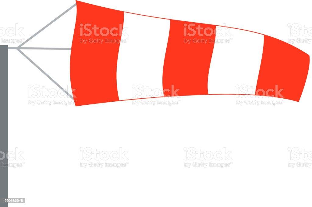 Cata-vento, direção do vento de ar - ilustração de arte em vetor