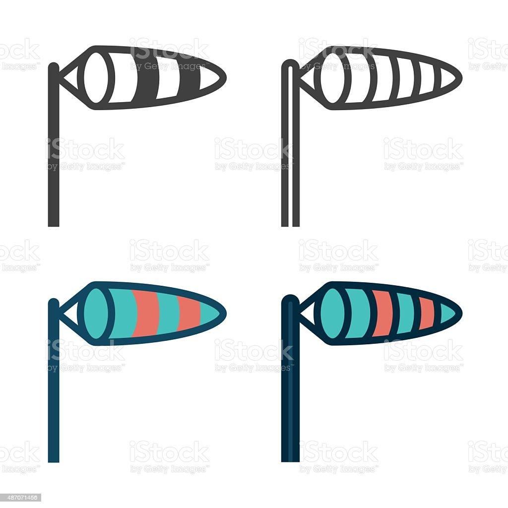 Meia ícone de vento - ilustração de arte em vetor