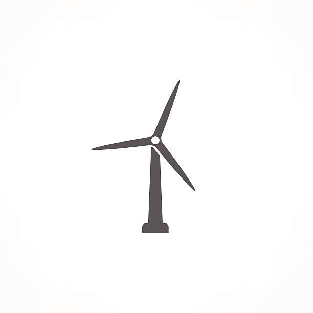 wind turbine icon - rüzgar değirmeni stock illustrations