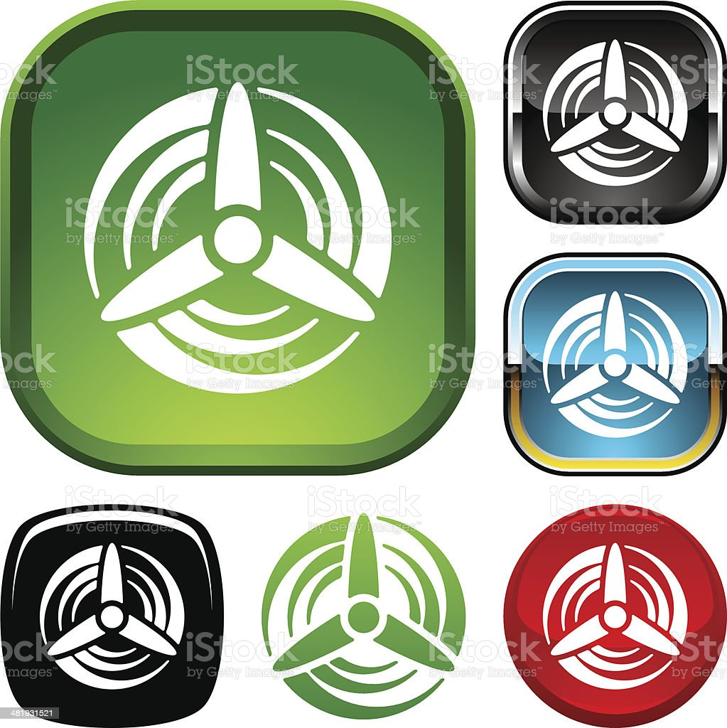 Wind turbine icon royalty-free stock vector art