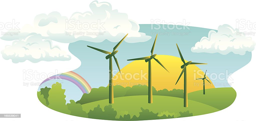 Wind Turbine Shape royalty-free wind turbine shape stock vector art & more images of agriculture