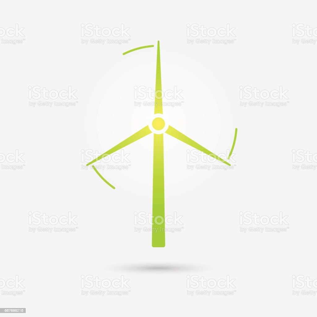 Wind Turbine Tower Icon Vector Design Stock Vector Art More Images
