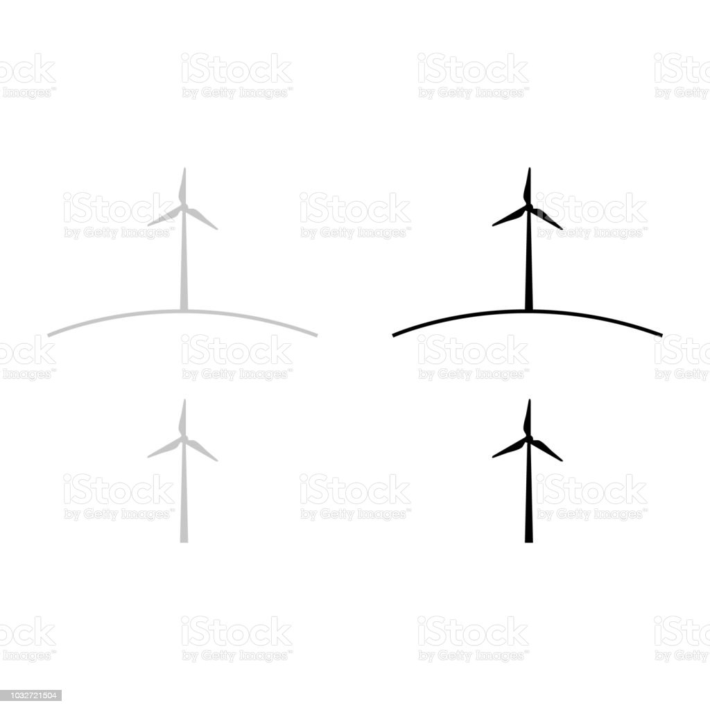 Wind Turbine Stock Vector Art More Images Of Fuel And Power Diagrams Royalty Free Amp