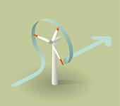 isometric wind turbine.