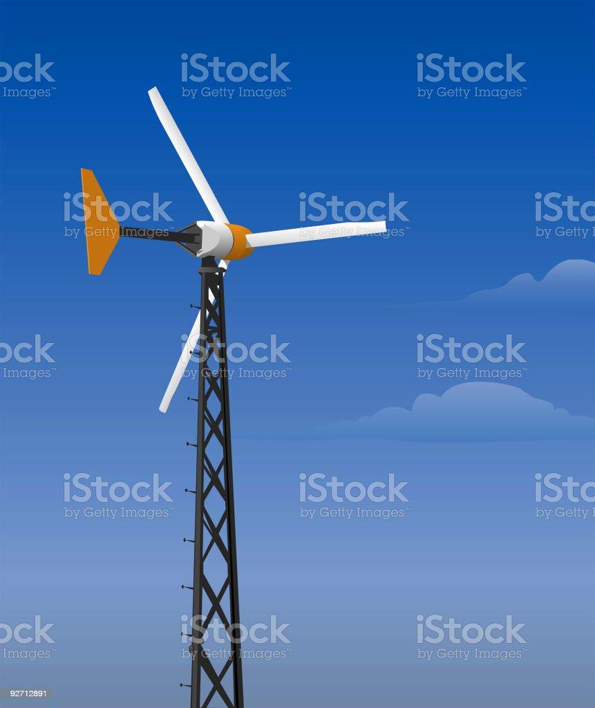 Wind turbine (vector) royalty-free stock vector art