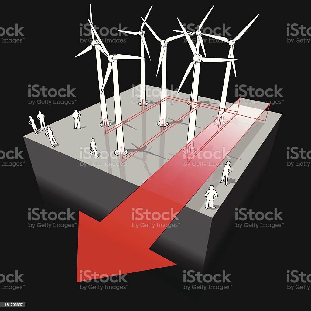 Enjoyable Wind Turbines Diagram Stock Vector Art More Images Of Alternative Wiring Digital Resources Tziciprontobusorg
