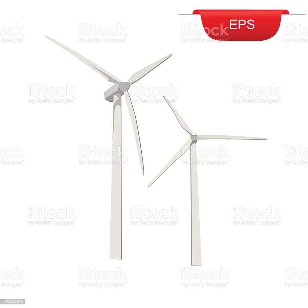 wind turbines, renewable energy, design elements, vector illustration royalty-free wind turbines renewable energy design elements vector illustration stock vector art & more images of blue