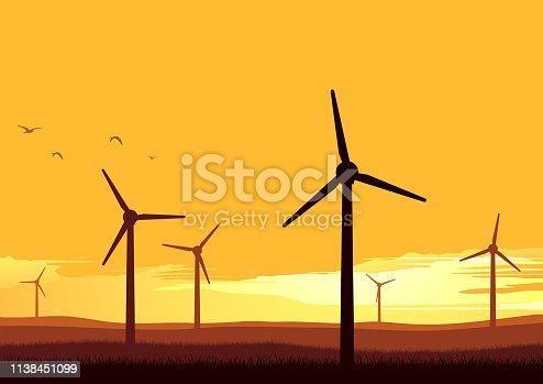 istock Wind turbines 1138451099