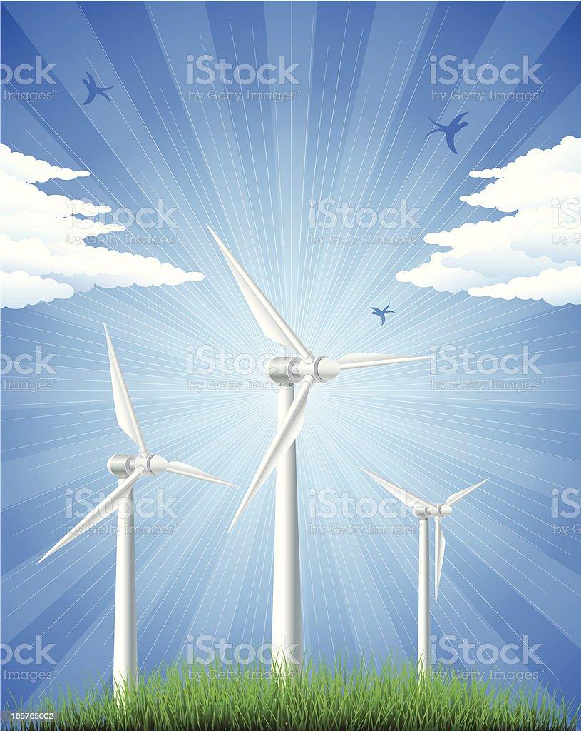 Wind turbines royalty-free wind turbines stock vector art & more images of alternative energy