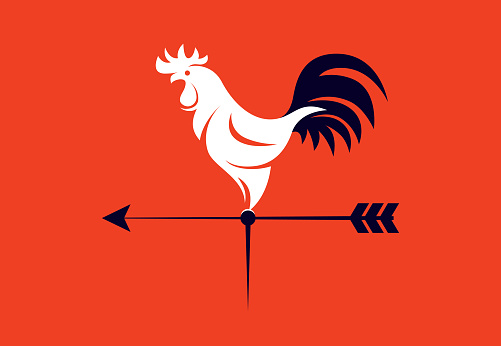 wind vane rooster symbol