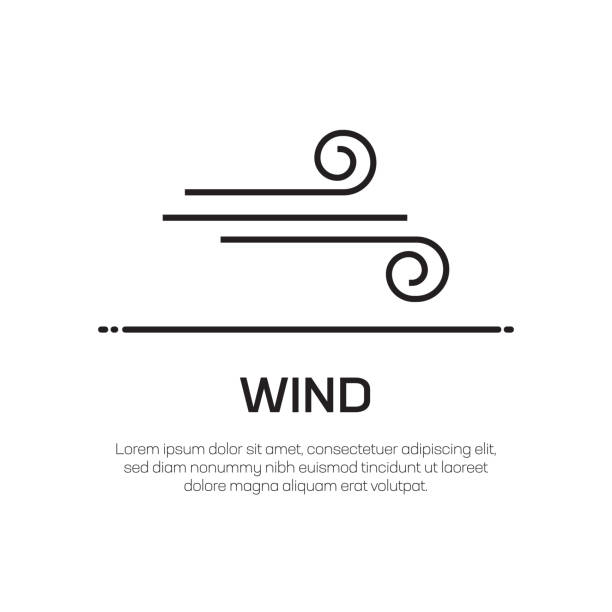 Wind Vector Line Icon - Simple Thin Line Icon, Premium Quality Design Element Wind Vector Line Icon - Simple Thin Line Icon, Premium Quality Design Element wind stock illustrations