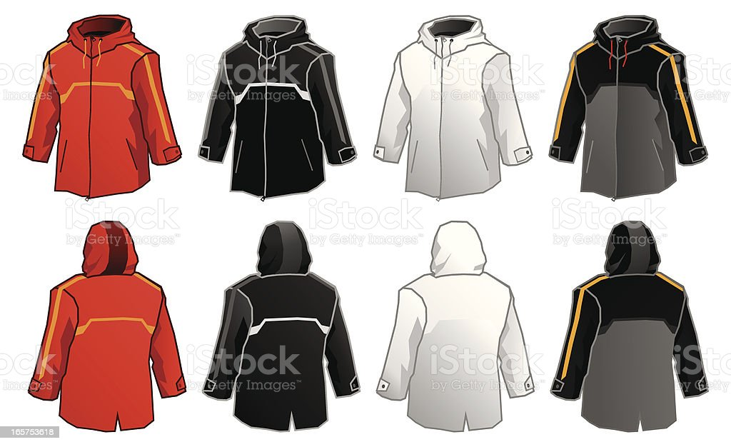 Windbreaker vector art illustration