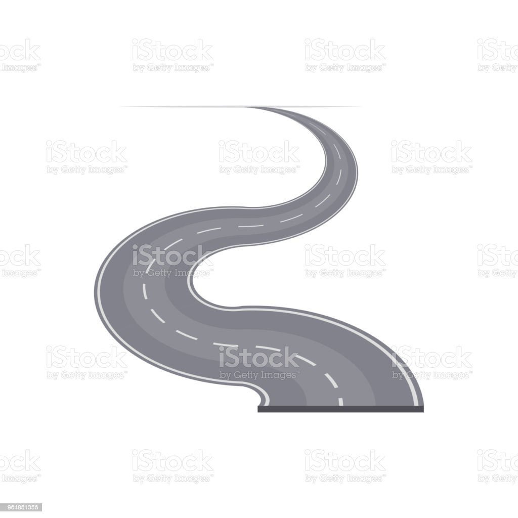 Winding curved highway with markings royalty-free winding curved highway with markings stock vector art & more images of accessibility