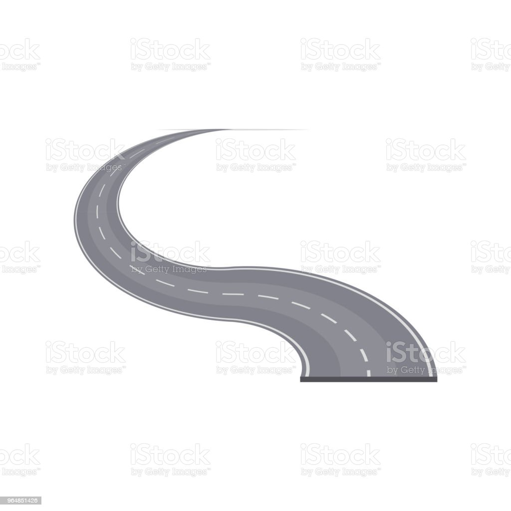 Winding highway with markings element royalty-free winding highway with markings element stock vector art & more images of accessibility