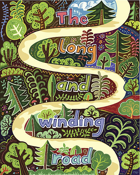 Winding Path Illustration Royalty Free Winding R...